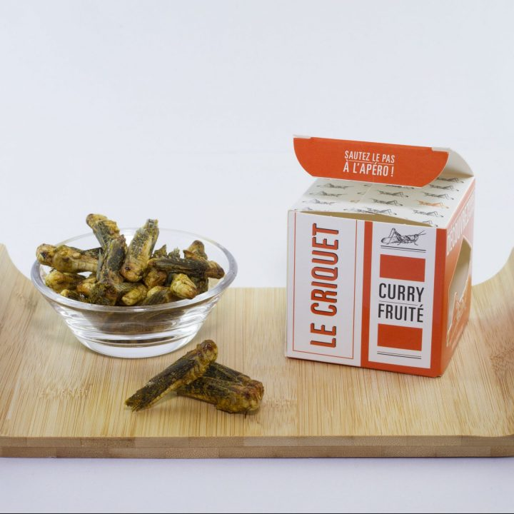 Insectes comestibles criquet/curry fruité