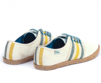 Baskets Solidaires et Artisanales made in Vietnam - N'Go Shoes blanc