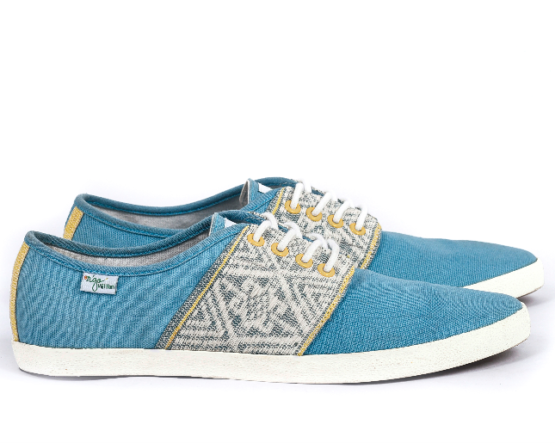 Baskets Solidaires et Artisanales made in Vietnam - N'Go Shoes bleu 2