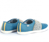 Baskets Solidaires et Artisanales made in Vietnam - N'Go Shoes bleu
