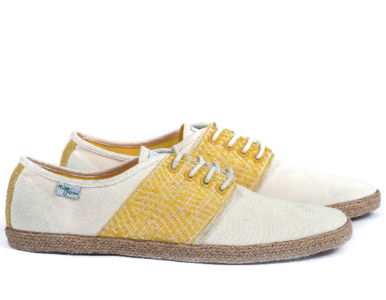 Baskets Solidaires et Artisanales made in Vietnam - N'Go Shoes jaune 2