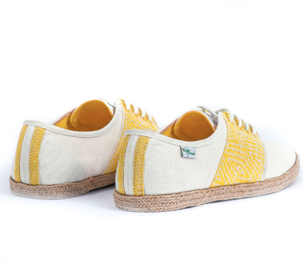 Baskets Solidaires et Artisanales made in Vietnam - N'Go Shoes jaune