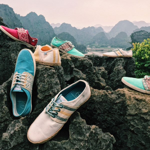 Baskets Solidaires et Artisanales made in Vietnam - N'Go Shoes montagne