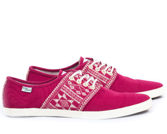 Baskets Solidaires et Artisanales made in Vietnam - N'Go Shoes rouge 2