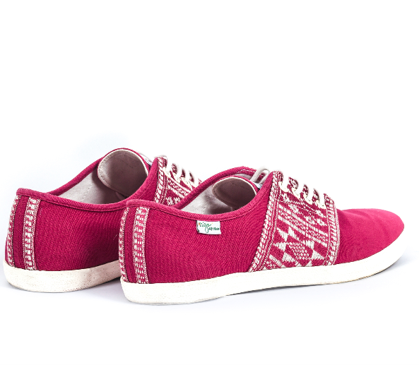 Baskets Solidaires et Artisanales made in Vietnam - N'Go Shoes rouge