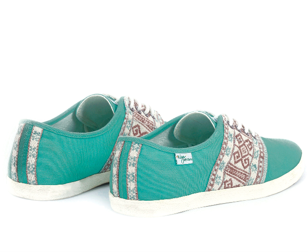 Baskets Solidaires et Artisanales made in Vietnam - N'Go Shoes vert