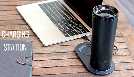 thermos entrain de recharger sur socle usb c