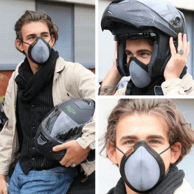 masque anti-pollution adaptable casque moto